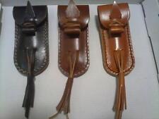 FUNDA DE PIEL vacuno autenico artesanal NAVAJA, CUERO CAZA PESCA CAMPING KNIFE
