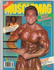 MuscleMag bodybuilding fitness magazine/Rich Gaspari/ Reg Park /8-86 #59