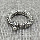 925 Sterling Silver Oxidized Spiral Spring Ring Clasp 22mm for Bracelet Necklace