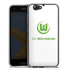HTC One A9 s Silikon Hülle Case HandyHülle - Vfl Wolfsburg weiß