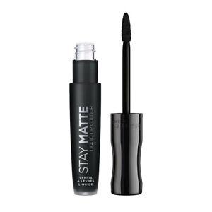 Rimmel Stay Matte Liquid Lip Colour Lipstick #840 PITCH BLACK Free Shipping