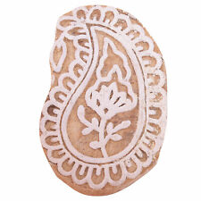 Wooden Block Fabric Stamp For Printing Hand Print Paisley (2.5X1.6)-Inch