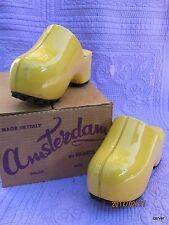 Rare Vintage Famolare Amsterdam Clogs Yellow Patent Size 5 with Original Box