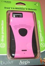 Trident Aegis Hybrid case for Motorola Droid X & Milestone X, Pink & Black, NEW