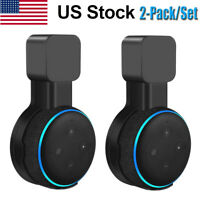 2-Pack Outlet Wall Mount Stand Holder For Amazon Echo Dot 3rd Generation Speaker