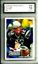 2010 Topps  # 80 Tom Brady QB Graded Gem Mint 10 New England Patriots