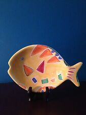 """Cook's Bazaar Colorful Hand Painted """"Fish"""" Candy Dish/Charger"""