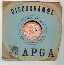 78T 26cm ORCHESTRE APGA Disque CLOCHES CORNEVILLE -LE PETIT DUC -ARTISTES 150013