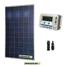 Kit solare 24V con pannello fotovoltaico 280W e regolatore 10A PWM con uscite US
