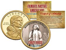 CRAZY HORSE Famous Native American Series Sacagawea Dollar Coin LAKOTA Indians