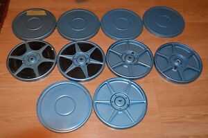 VTG lot of 5 Comco Metal 8mm Reels & Cases with 2 Reels of Movies