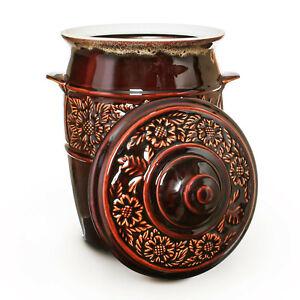 Keramikfass zum Einlegen 9L Einlegetopf Sauerkrautfass Gurkentopf Einmachtopf