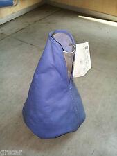 Cuffia Copri Leva Cambio VERA pelle gear gaiter leather Tuning Blu Azzurro Isott