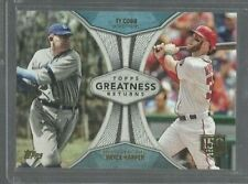 2019 Topps Greatness Returns 150th Anniversary #GR11 Ty Cobb/Bryce Harper