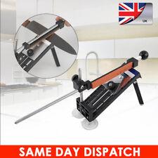 Professional Knife Sharpener Tools System Kitchen Fix-Angle Sharpening 4 Stones