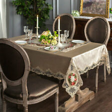 Luxury Floral Lace Velvet Tablecloths Rectangle Home Decor Dining Table Covers