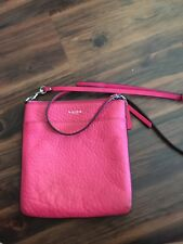 Coach Soft Pebbled Leather Hot Pink Crossbody Messenger Bag