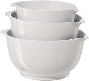 Oggi Mixing Bowl Set, Melamine Mixing, Set of 3 White