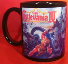SUPER CASTLEVANIA 4 - Black Coffee MUG CUP - SNES nintendo konami castle vania
