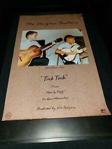 The Vaughan Brothers Tick Tock Rare Original Radio Promo Poster Ad Framed!