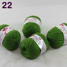 4Ball x50g  Multi-Color Cashmere Silk Wool Hand knitwear knitting Baby Yarn 22