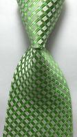 UK1047 Green Pattern New Silk Classic JACQUARD Woven Men's Tie Necktie