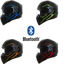 Torc T15 Rush with Built In Bluetooth Motorcycle Helmet Full Face Dual Visor