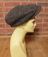 M&S Marks And Spencer Moon 100% Wool Grey Brown Thinsulate Flat Cap Size XL