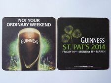 Guinness St Patrick's Day 2014 Beermat Coaster
