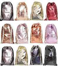 Hipster Turn Beutel Ruck-Sack Rucksack Sport Gym-Bag  Metallic GLANZ LACK