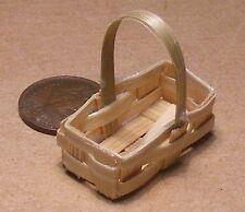 1:12 Scale Medium Size Bamboo Basket Punnet Tumdee Dolls House Miniature Zem