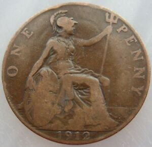 1912 BRITISH PENNY GEORGE V
