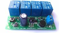 4 channel Programmable Momentary Infrared IR relay board wireless Multi protocol