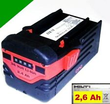 ORIGINAL Hilti Pila B36 / 2,4 Li 36V ION-LITIO 2,6 Ah. 2600mAh TE 6a