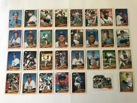 1989 MILWAUKEE BREWERS Topps COMPLETE Baseball Team SET 31 Cards YOUNT MOLITOR!