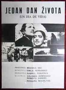 1950 Original Movie Poster Mexico Un Día De Vida One Day Of Life Fernández