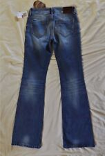 NWT Earl light wash distressed boot cut jeans womens size 26 X 34 Retail $128