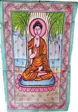 "Tapestry / Bedspread Buddha Multi Colored 54"" x 86"" Twin Size use bed, wall"