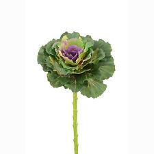 Artificiale Brassica Ornamentale Cavolo Base 46cm Verde Viola