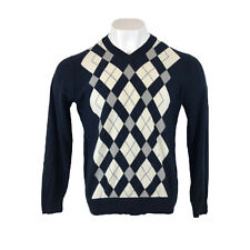 Tommy Hilfiger Jumper Argyle Diamond Pattern Medium Mens