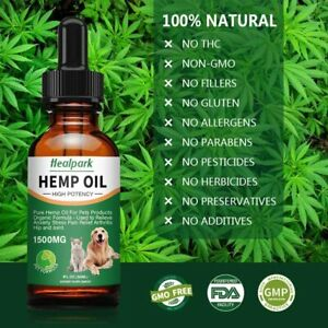 Max Potency Organic Hemp Oil for Dogs & Cats - Anxiety, Joint Pain, Stress