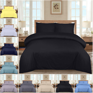 Duvet Cover Set 100% Egyptian Cotton Quilt Bedding Sets Single Small Double King