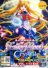 Sailor Moon Crystal (Season 2) DVD (Eps :1 to 13 end) with English Subtitle