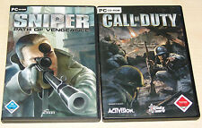 2 PC SPIELE BUNDLE - CALL OF DUTY & SNIPER PATH OF VENGEANCE - SHOOTER