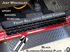 Jeep Wrangler Unlimited JK black Aluminum Diamond Plate Front Door Step Guards