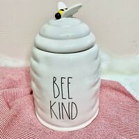 """NEW! RAE DUNN """"BEE KIND"""" LL 🐝 Canister Easter Yellow Mom Spring 2021 VHTF!"""