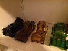 Vintage Avon Lot Of 4 Perfume Bottles Empty Glass Cars Blue Green Brown