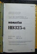 Komatsu Dumper hd325-6 taller de libro de mano