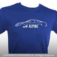 AUTOTEES T-SHIRT FOR RENAULT ALPINE A110 INSPIRED CLASSIC CAR ENTHUSIASTS