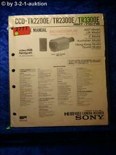 Sony Service Manual Ccd TR2200E/TR2300E/TR3300E Video Camera Rec. (#2777)
